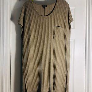 Top shop sleeveless ribbed tunic top